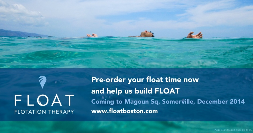 Pre-order your float time now and help us build FLOAT.  Coming to Magoun Sq, Somerville, Dec 2014.
