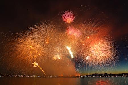 Fireworks from the Celebration of Light 2014