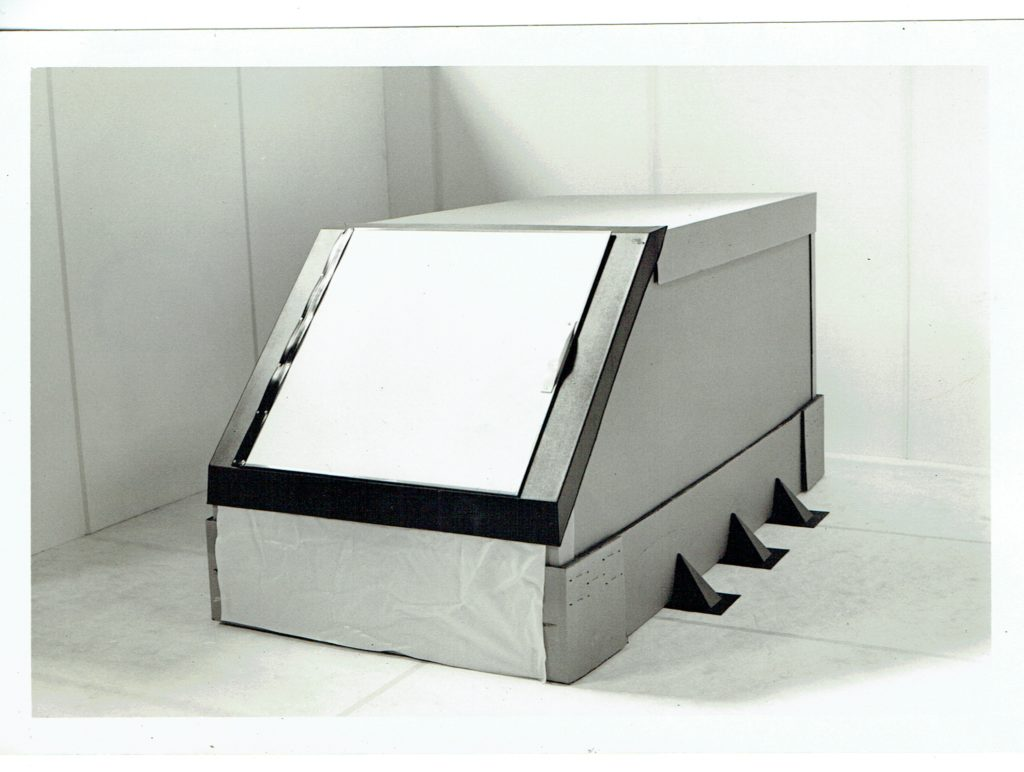 An image of the first float tank in production, from Samadhi.